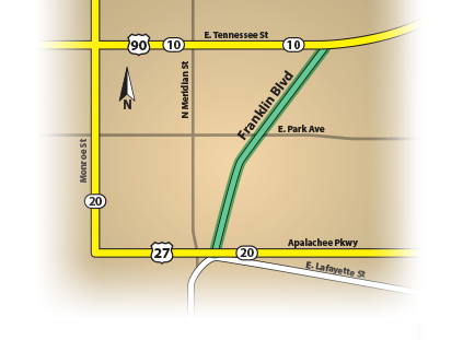 franklin blvd map