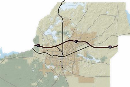 Leon county map