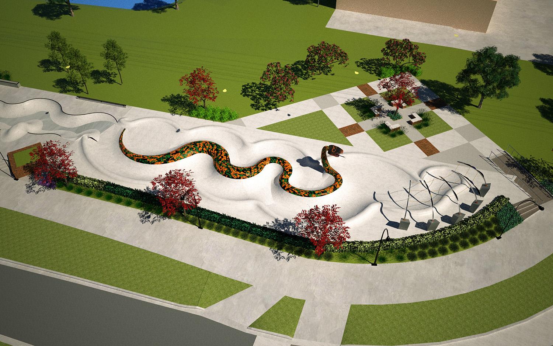 skateable art park rendering