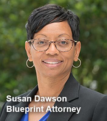 Susan Dawson, Blueprint attorney